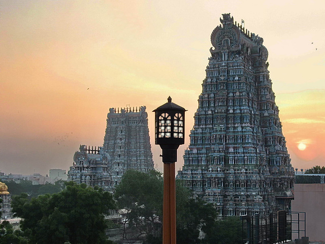 IMG 9706bc Madurai Sri Ranganathaswamy Hindu Temples at Sunset