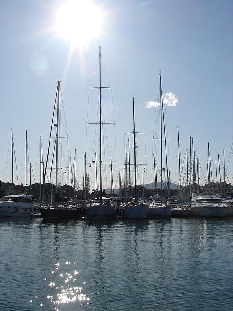 Port Grimaud. En plein soleil.