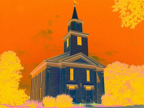Whiting church cemetery. 30 nord entre 4 et 125 - New Hamshire, États-Unis / USA.  Juillet 2009 - Création Krisontème