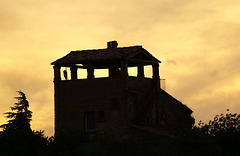 Ruined house at sunset, Gordes