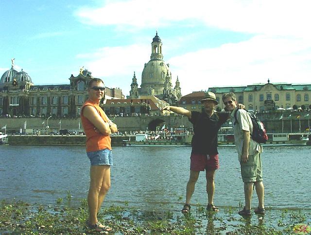 2007-07-14 01 DD-Spaziergang mit Dieter, Thomas, Micha