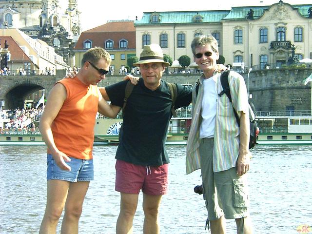 2007-07-14 02 DD-Spaziergang mit Dieter, Thomas, Micha