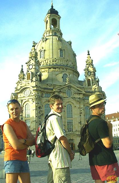 2007-07-14 03 DD-Spaziergang mit Dieter, Thomas, Micha