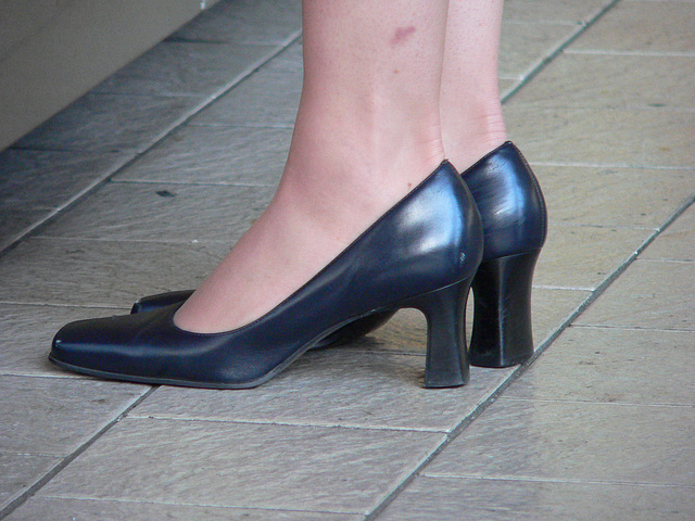 heels at the mall
