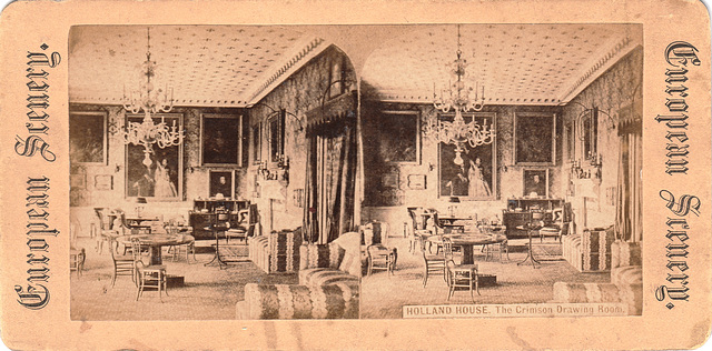 The Crimson Drawing Room, Holland House, Kensington