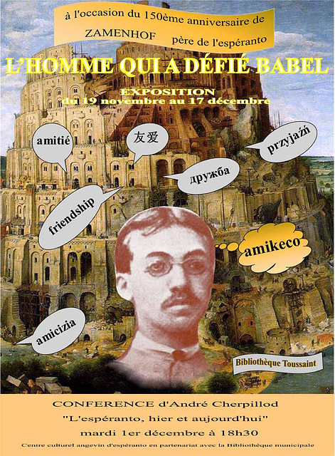 Affiche exposition Zamenhof