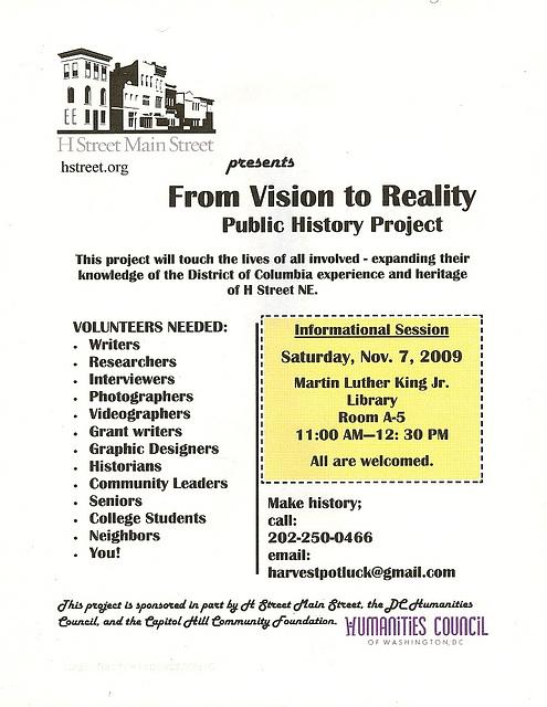 HStreet.HistoryProject.InformationalSession.7Nov2009