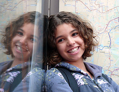le chemin de l'école : l'arrêt du bus