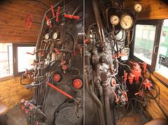 Im Führerstand der Dampflok L