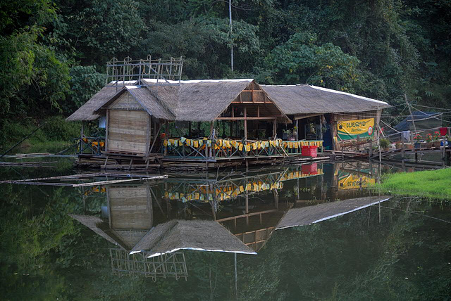 Picturesque scenery of a restaurant location