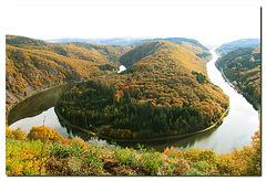Saarschleife im Herbst