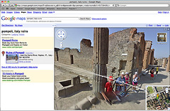 Pompeii on Streetview