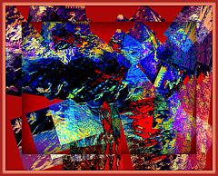 Reflet  Le moulin Chittenden - Jericho. Vermont . USA.de mon Cher Ami Léo - Version Krisontème Avec autorisation permanente