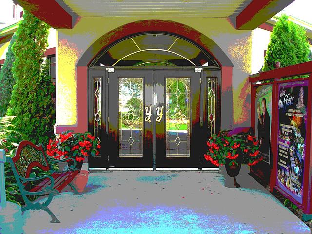 Y door handles and botanical bench  / Poignées Y et banc botanique. 12-07-2009 - Postérisation
