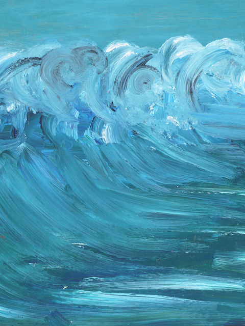 Wave 2 Acrylic on board