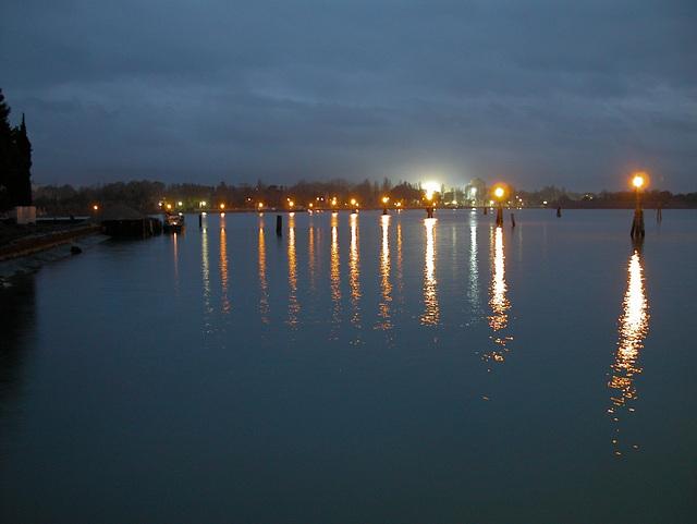 venise: lagune  la nuit