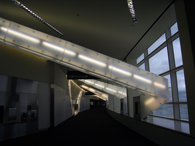 SFO - Light Beams For The Sky Of A Transfer Corridor by Vito Acconci (4533)