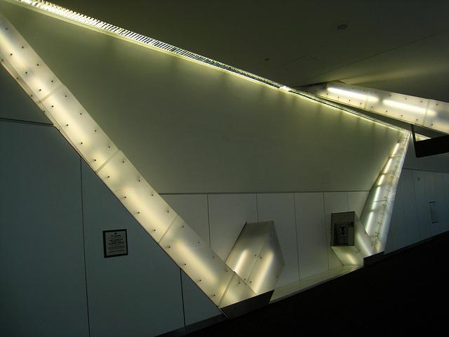 SFO - Light Beams For The Sky Of A Transfer Corridor by Vito Acconci (4534)