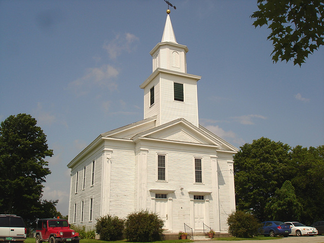 Whiting church cemetery / Sue la 30 nord entre  les routes 4 et 125 - New Hampshire, USA. 26-07-2009.