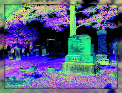 Création Krisontème / Whiting church cemetery. 30 nord entre 4 et 125. New Hampshire, USA