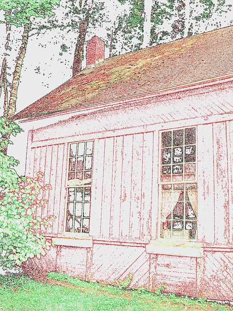 Adis antiques /  Mendon,  Vermont  USA /  États-Unis.   25 & 26 juillet 2009  -   Contours de couleurs