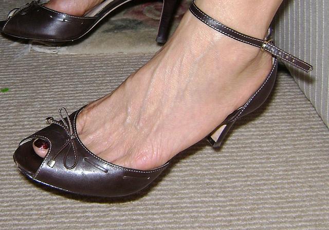 ann taylor ankle strap heels