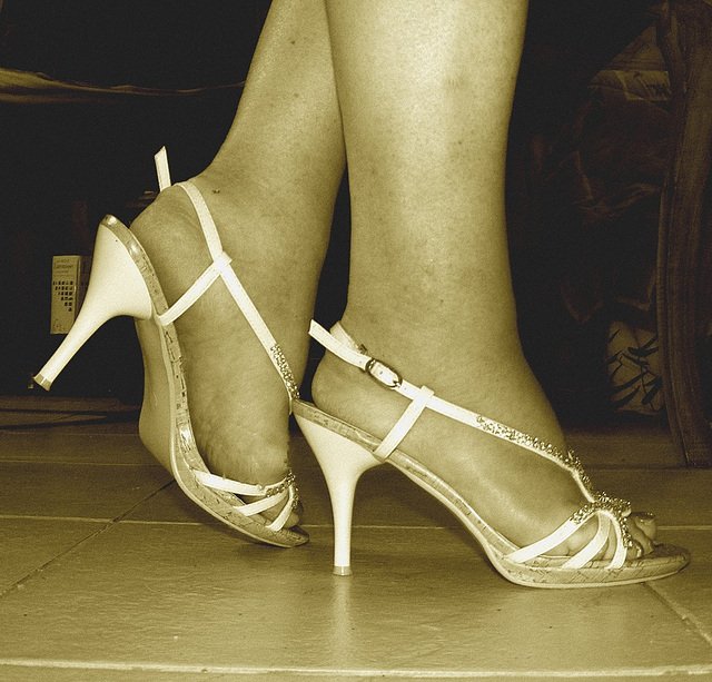 Mon amie adorée Krisontème avec permission  - Nouvelles sandales à talons hauts / Brand new high-heeled sandals - Sepia