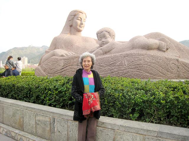 兰州母亲河雕塑