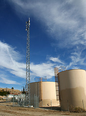 Low Desert View Water Tanks & Police Antenna (3722)