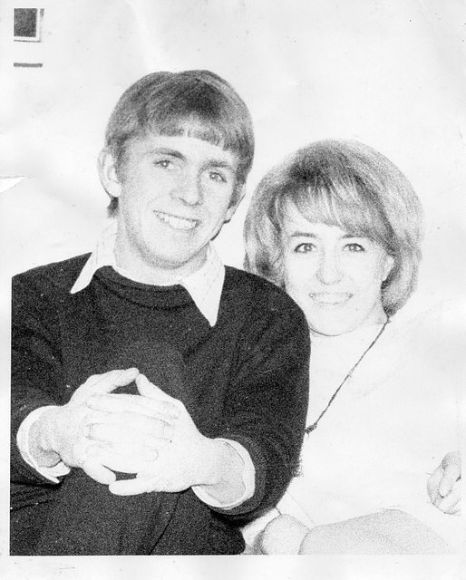 Martin & I when we got engaged in 1968
