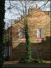 sunlight on a brick wall