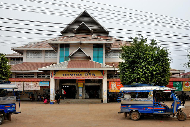 City market hall in Oudom Xai
