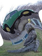 Coccinelle sur roches /  Beetle on the rocks - Spiral earthquake / Tremblement de terre spiralé