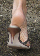 arch in Ann Taylor heels