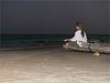 quand monte  la nuit ...à Mahabalipuram