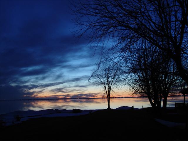 Coucher soleil au belvédère /  Viewpoint sunset  - Dans ma ville / Hometown -  2 mars 2010 - Capture originale / Original capture