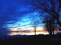 Coucher soleil au belvédère / Viewpoint sunset - Dans ma ville / Hometown - Originale éclaircie avec couleurs ravivées