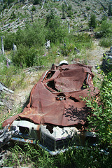 Automobile Destroyed in the Mount St. Helens Eruption