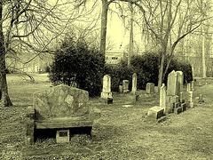 St.Marys Anglican church Como et cimetière - Hudson QC.  25-03-2010 - Photo ancienne