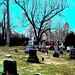 St.Marys Anglican church Como et cimetière - Hudson QC.  25-03-2010- Fortement postérisée