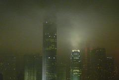 Skyscrapers in mist