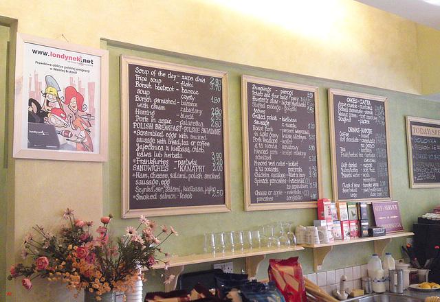 Café Maja - bilingual menu