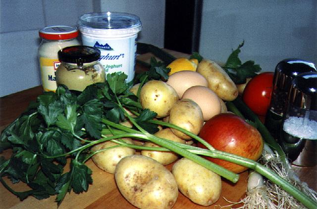 Zutaten für Kartoffelsalat