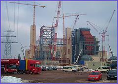 Power plant under construction