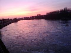 Sunset on the Oise