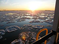 Elbe im Winter bei Blankenese