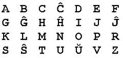 alfabeto de Esperanto