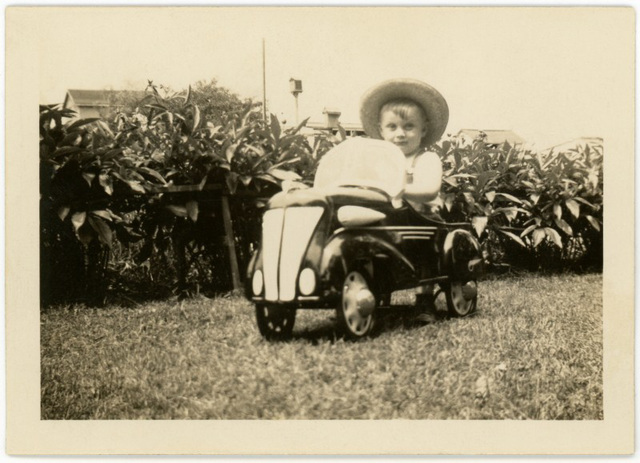 Pedal Car and First Straw Hat, 1938