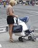 Canal street high-heeled blonde Mom