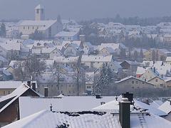 Die kleine Stadt und die Kirche
